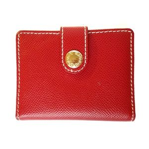 Handbags - Dooney and Bourke Red Pebble Leather Cardholder